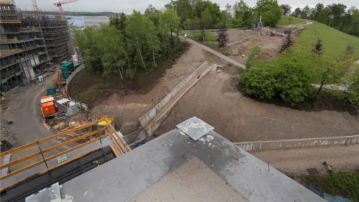 Bei der Eröffnung des Parks wird 2020 eine Standseilbahn vom Circle auf den Butzenbüel fahren.