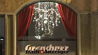 Adventsfenster 2018: Am 17. Dezember laden der «Grenchner Stadtanzeiger» und das «Grenchner Tagblatt» zum Apéro.