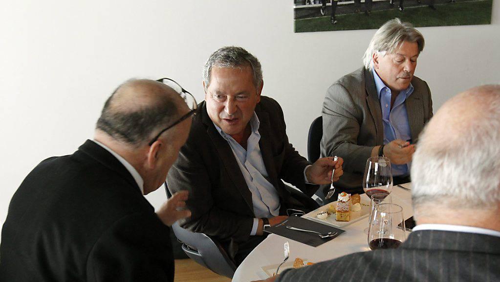 Knall in der FCL Holding AG: Mehrheitsaktionär Bernhard Alpstaeg (links) und Samih Sawiris sind unter anderen als Verwaltungsräte zurückgetreten.