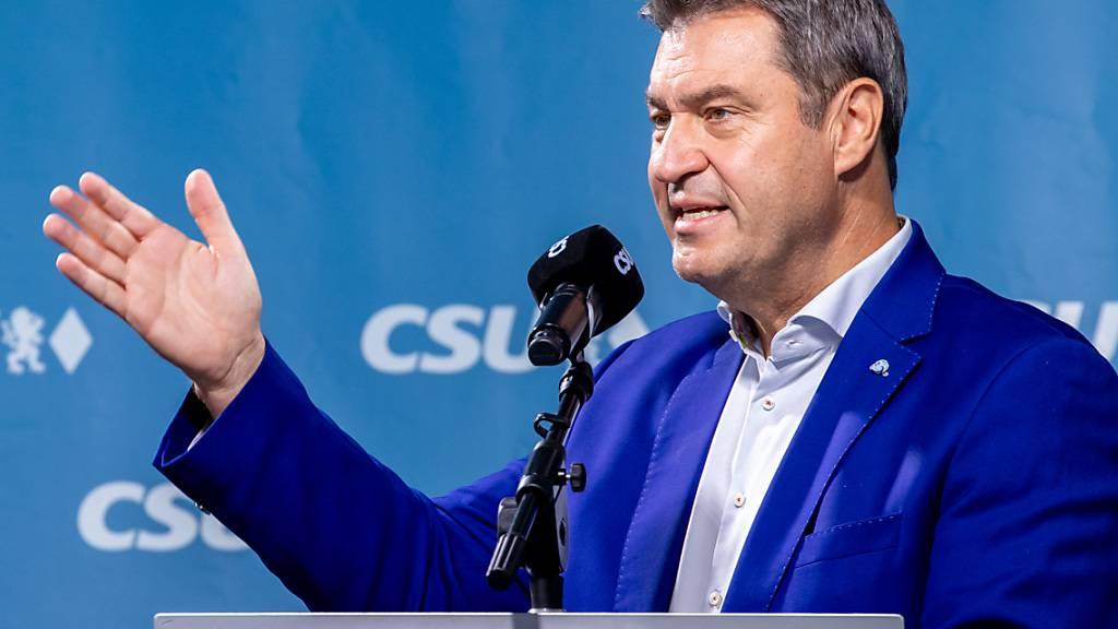 Markus Söder, CSU-Parteivorsitzender und Ministerpräsident von Bayern, sieht das bevorstehende Wochenende als letzte Chance für die Union einen Stimmungsumschwung zu erwirken. Foto: Daniel Karmann/dpa
