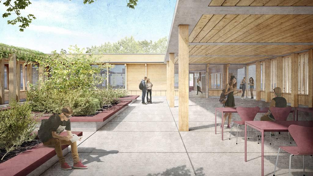 Siegerprojekt Erweiterung Schulanlage Herti Zug