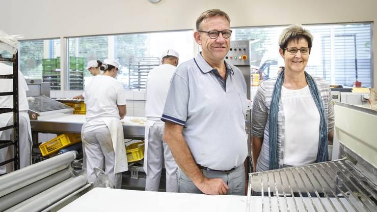 Irène und Pius Riechsteiner blicken auf 30 Jahre Bäckerei Felber zurück.