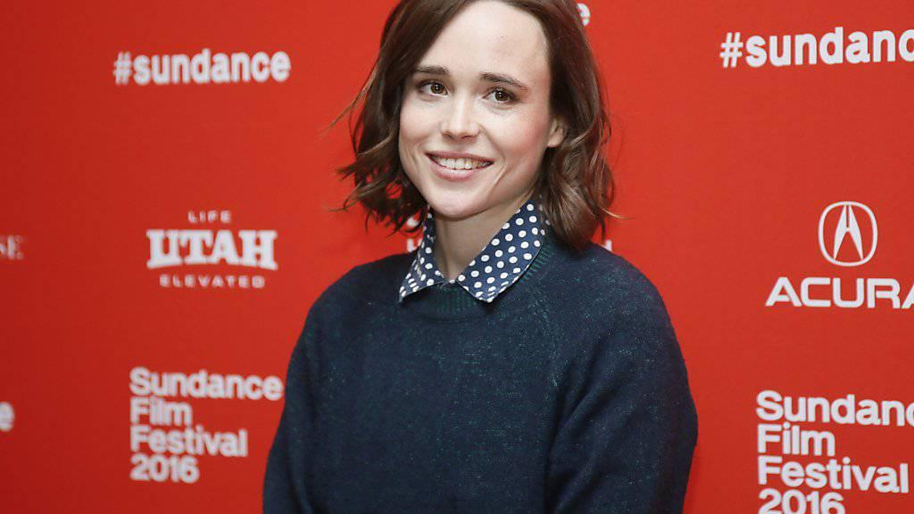 Ellen Page - hier Ende Januar auf dem Sundance Festival - hat ihr Coming-Out als Erleichterung empfunden (Archiv).