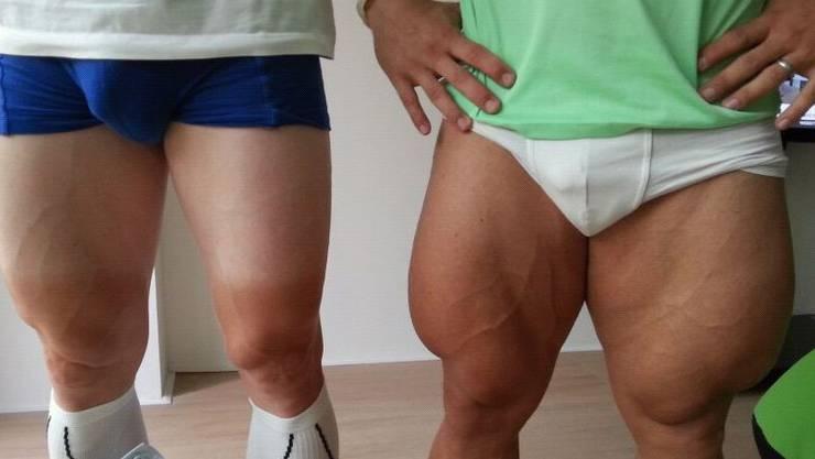 Bahnradfahrer Beine