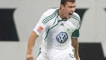 Edin Dzeko traf gegen Schalke doppelt