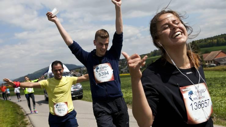 Sport und Spass am Wings for Life Wolrd Run.