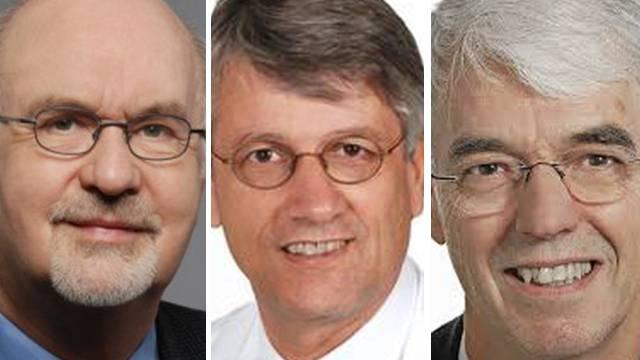 Josef Flammer, Berhard Jeanneret und Richard Herrmann