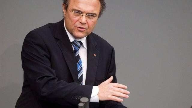 Innenminister Hans-Peter Friedrich (CSU) will die NDP verbieten (Archiv)