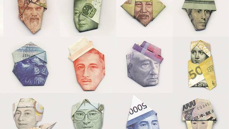 Gesichter des Geldes: Die Persönlichkeiten auf den Banknoten sollen Vertrauen schaffen – ins Geld. HO