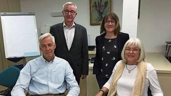Max R. Schlör, Martin Heiz, Janine Murer und Therese Gautschi (v.l.) haben die neue Lösung im Dezember vorgestellt.