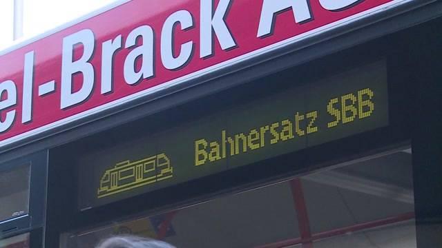 Aarau versinkt im Pendlerchaos