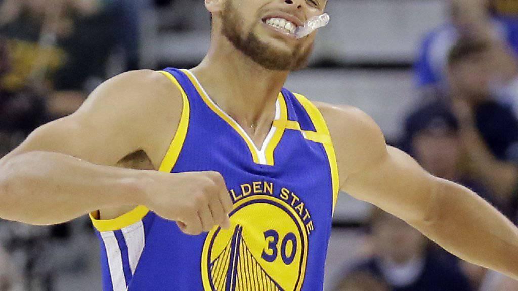 Stephen Curry sorgte mit seinen 30 Punkten, dass die Golden State Warriors in den Playoffs weiterhin ungeschlagen bleiben