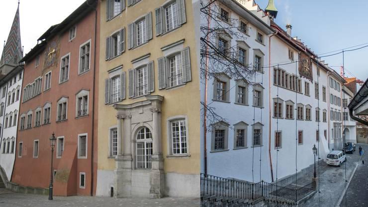 Vor der Sanierung dominierten beim Stadthaus Farben. Nun wurden sie wieder – historisch korrekt – weiss übermalt.