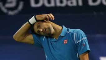 Augenprobleme zwangen Novak Djokovic während dem Viertelfinalspiel in Dubai zur Aufgabe