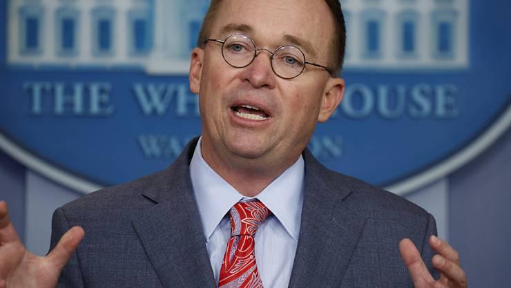 Der Stabschef im Weissen Haus, Mick Mulvaney, ist im Zuge der US-Kongressuntersuchung zu einem möglichen Amtsenthebungsverfahren gegen Präsident Donald Trump von der Opposition zur Zeugenaussage vorgeladen worden.
