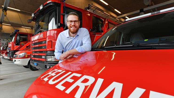 Philipp Stierli, Präsident des alten und möglicherweise auch neuen kantonalen Feuerwehrverbandes.