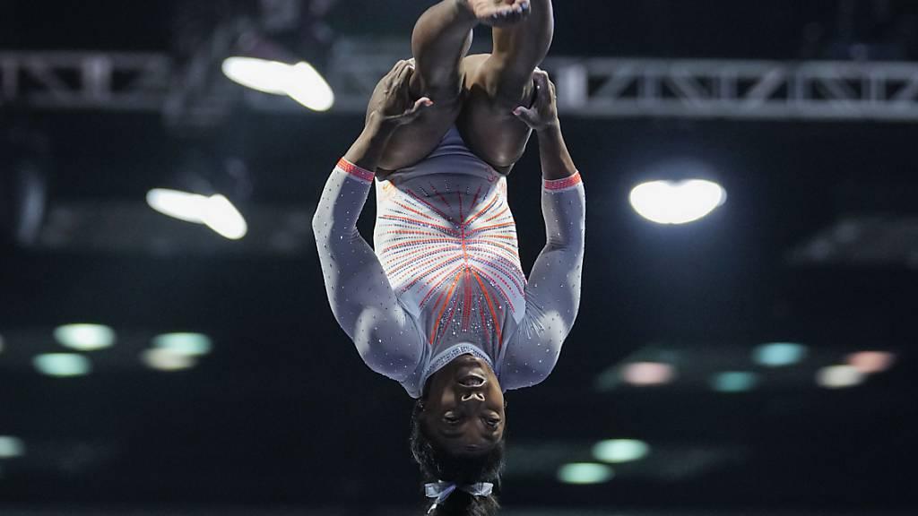 Simone Biles mit neuem Sprung zurück