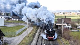 Historischer Dampfzug im Freiamt