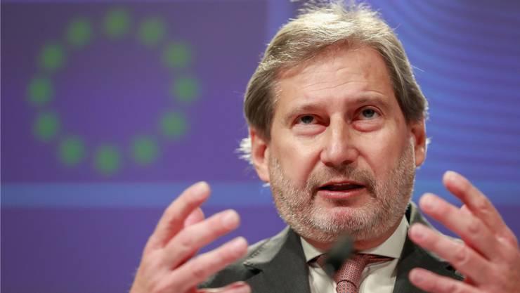 Schliesst ein Nachverhandeln des Rahmenabkommens mit der Schweiz aus: EU-Kommissar Johannes Hahn.