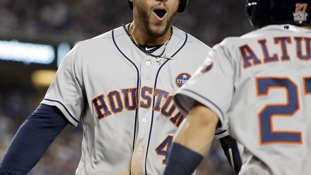George Springer von den Houston Astros freut sich über seinen Homerun