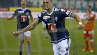 Tomi Juric traf bei seinem Debüt für Luzern zweimal