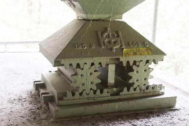 Raffiniert konstruiert: Das ganze Gewicht  der Reussbrücke liegt auf solchen beweglichen Lagern.