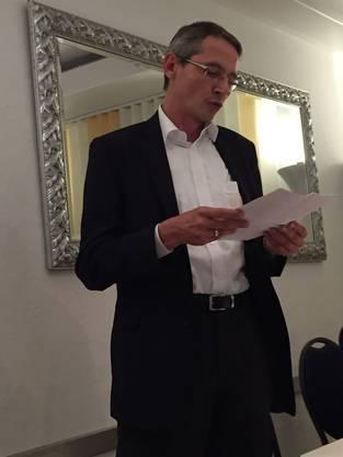 GR Florian beim Referat zur Grünen Wirtschaft - Parole NEIN
