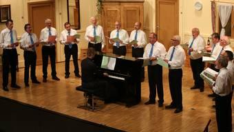 Der Männerchor wusste die Idee von Leiter Karel Valter gekonnt umzusetzen.