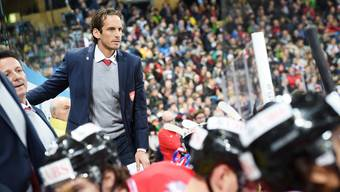Team Suisse coach Patrick Fischer during the game between Team Suisse and Dinamo Riga at the 91th Spengler Cup ice hockey tournament in Davos, Switzerland, Tuesday, December 26, 2017. (Keystone/Melanie Duchene)