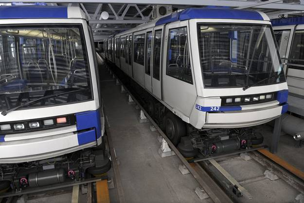 Die Métro in Lausanne wurde ebenfalls von der Alstom hergestellt.
