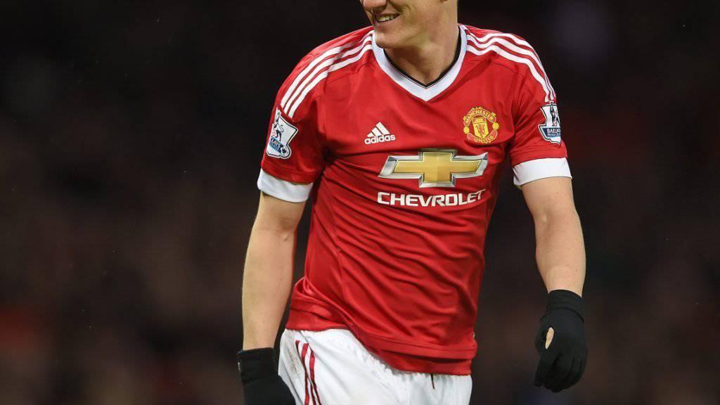 Bald nichts mehr zu lachen? Manchester Uniteds Bastian Schweinsteiger droht für einen Ellbogenschlag im Spiel gegen West Ham eine nachträgliche Sperre