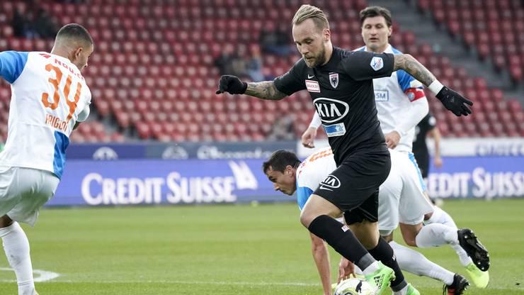Der FC Aarau hatte beim Unentschieden gegen GC mehr Ballbesitz und mehr Torchancen.
