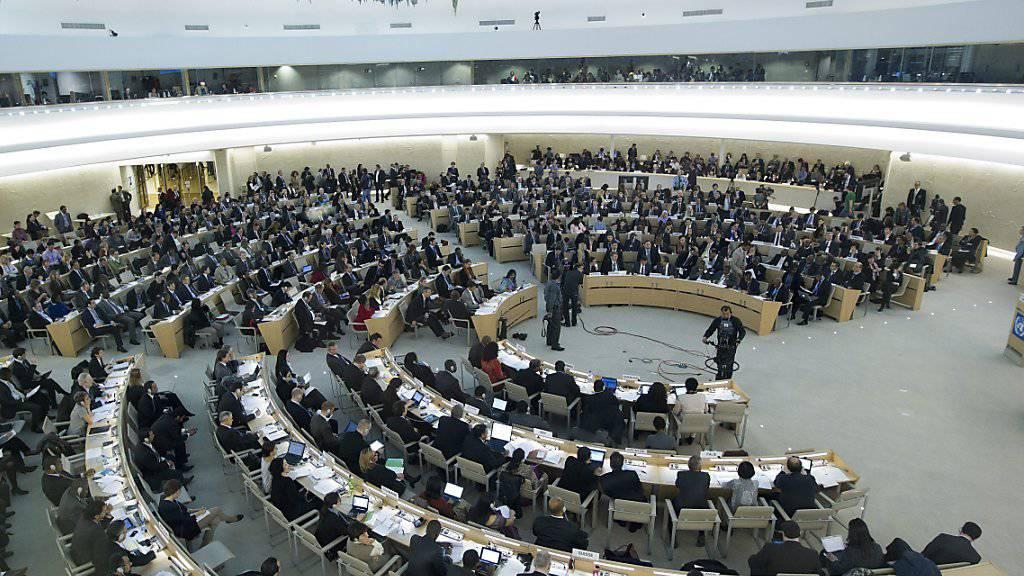 Der Uno-Menschenrechtsrat in Genf - Die USA ernten für ihren Ausstieg aus dem Gremium weltweit Kritik. (Archiv)