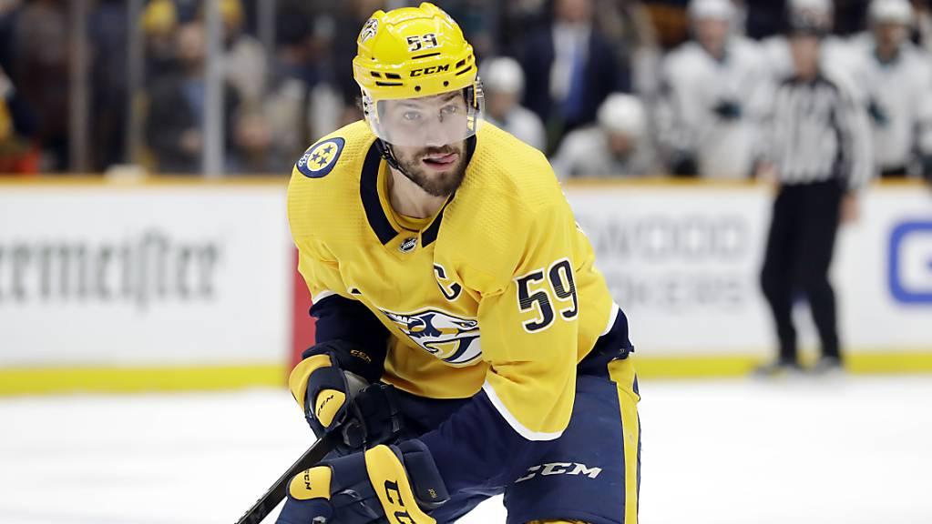 Nashvilles Captain Roman Josi stand beim 1:0-Sieg seines Teams in Winnipeg über 27 Minuten auf dem Eis, blieb erstmals seit zwölf Spielen aber ohne Skorerpunkt