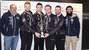 Cupsieger Team Bern (v.l.): Bernhard Werthemann (Coach), Yannick Schwaller, Michael Brunner, Romano Meier, Marcel Käufeler, Pius Matter (Coach).