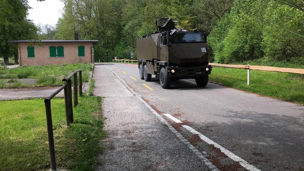 Ein GMTF der Schweizer Armee hat einen jungen Hund überfahren.