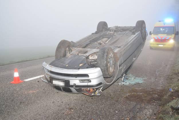 Sie Lenkerin zieht sich beim Unfall glücklicherweise nur leichte Verletzungen zu.
