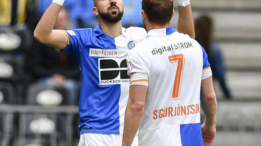 GC-Stürmer Munas Dabbur nach seinem Siegestor im Spiel gegen die Young Boys