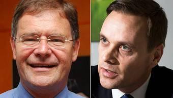Sie sind keine Freunde: Wohlens Gemeindeammann Walter Dubler und SVP-Einwohnerrat und Anwalt Jean-Pierre Gallati.