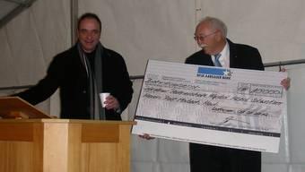 Schweizer des Jahres 2010 war Überraschungsgast beim Neujahrsapéro in Wettingen