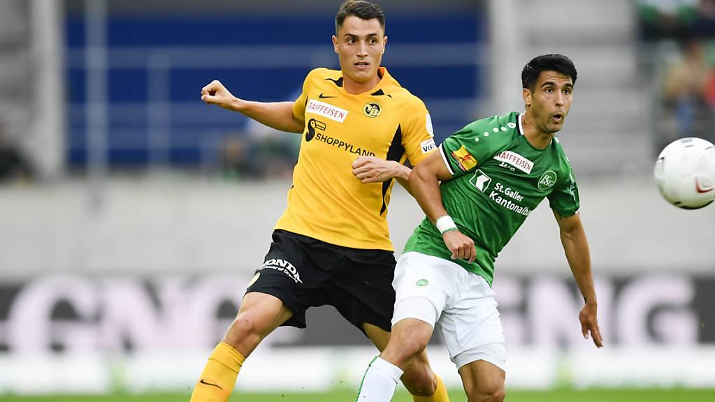 Vincent Sierro, hier im Spiel vom letzten August gegen seine frühere Mannschaft St. Gallen (Victor Ruiz)