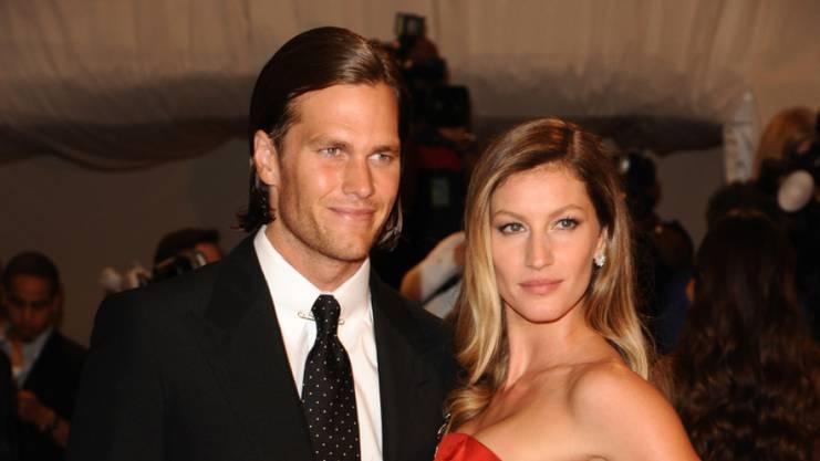 Fotomodel Gisele Bündchen mit Ehemann und Football-Spieler Tom Brady.