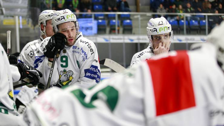 Grosse Enttäuschung beim EHC Olten nach der Niederlage gegen den HC Thurgau.