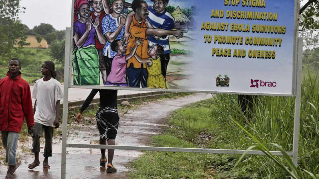 Aufruf an die Bevölkerung, Ebola-Überlebende nicht zu stigmatisieren. (Archiv)