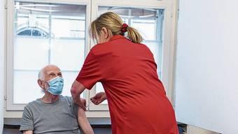 Im Impfzentrum am Kantonsspital Aarau könnten pro Woche bis zu 5000 Menschen geimpft werden.
