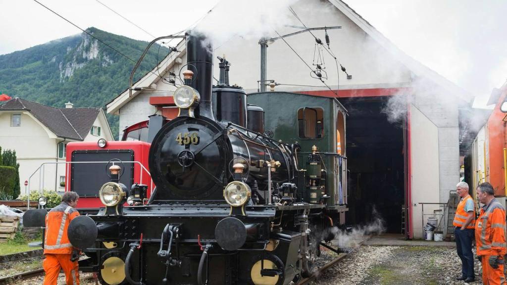 Die Dampflokomotive NOB 456 ist nach einer umfassenden Revision wieder in ihrem Element.