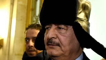 Kämpft gegen die von der Uno anerkannte Regierung in Tripolis: General Chalifa Haftar der selbst ernannten Libyschen Nationalarmee (LNA). (Archivbild)