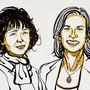 """Emmanuelle Charpentier und Jennifer Doudna werden für ihre Erkenntnisse zur sogenannten """"Gen-Schere"""" geehrt."""