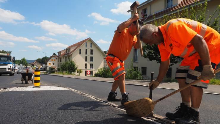 Strassenbauarbeiten an der Kantonsstrasse in Mumpf werden vorraussichtlich im September folgen.