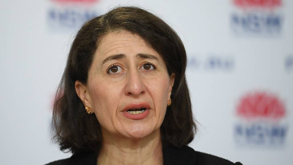 NSW Premier Gladys Berejiklian  .during a COVID-19 update in Sydney, Monday, August 30, 2021. (AAP Image/Dean Lewins) NO ARCHIVING